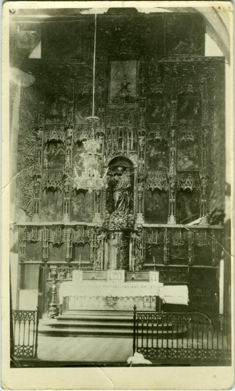 Retablo original del templo parroquial de San Pedro. Autor: Damián Forment.