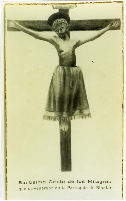 Imagen Santo Cristo de los Milagros.