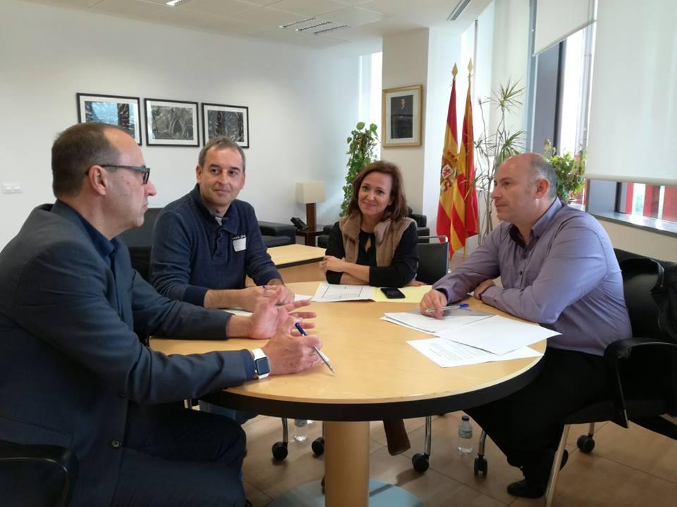 El alcalde de Binéfar se reunió con la consejera de Educación para el seguimiento del nuevo colegio