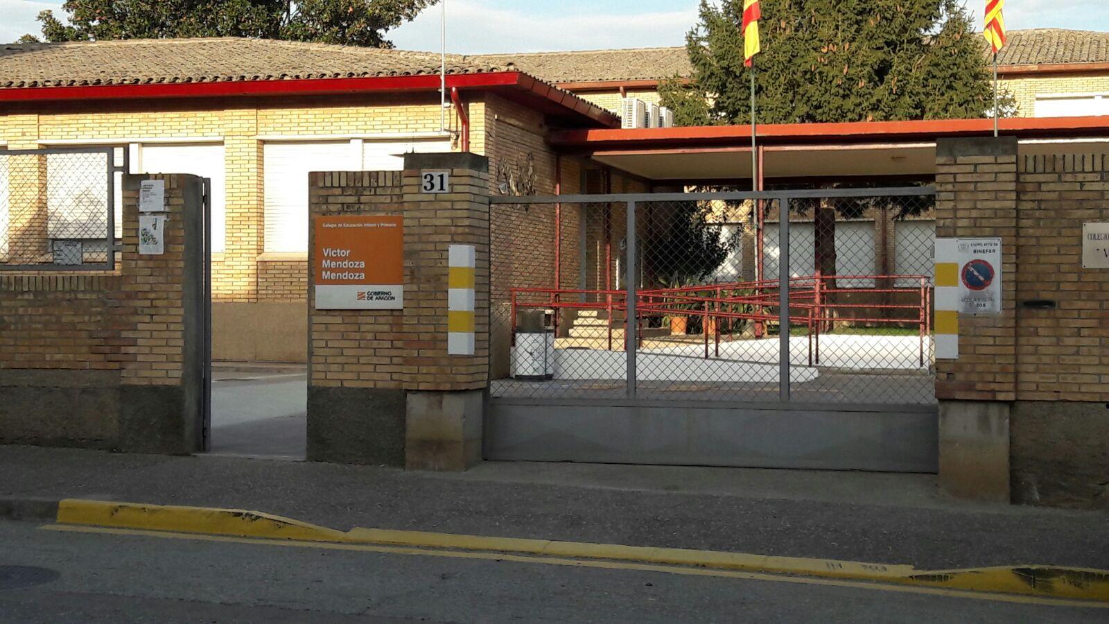 Binéfar cierra sin incidencias el episodio de legionella detectado en una instalación del CEIP Víctor Mendoza