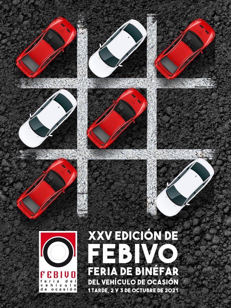 El cartel de Febivo 2021 juega con el tres en raya