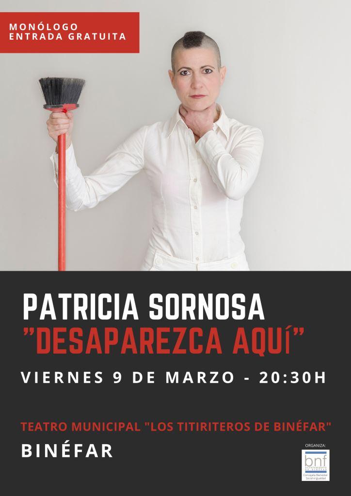 La actriz Patricia Sornosa invitará a reflexionar sobre la mujer a través de la comedia