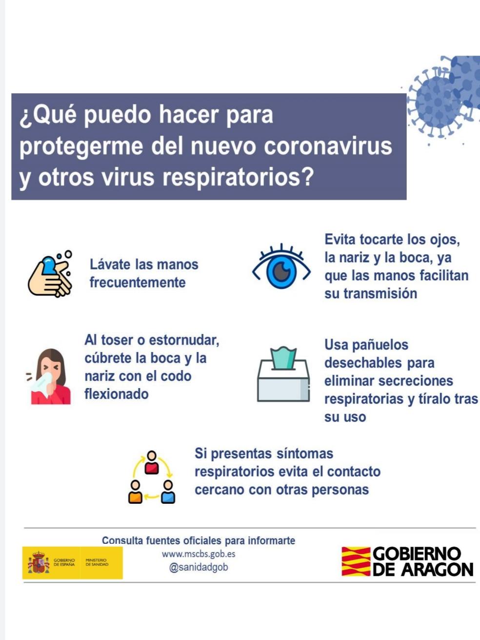 Normas en centros de titularidad municipal para prevenir el coronavirus