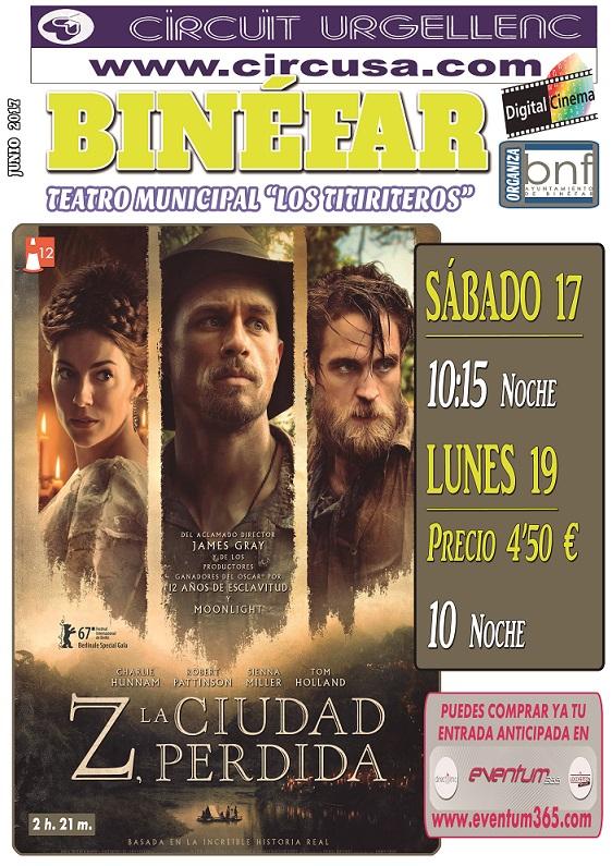 Finaliza la temporada de cine en la sala del Teatro Municipal de Binéfar