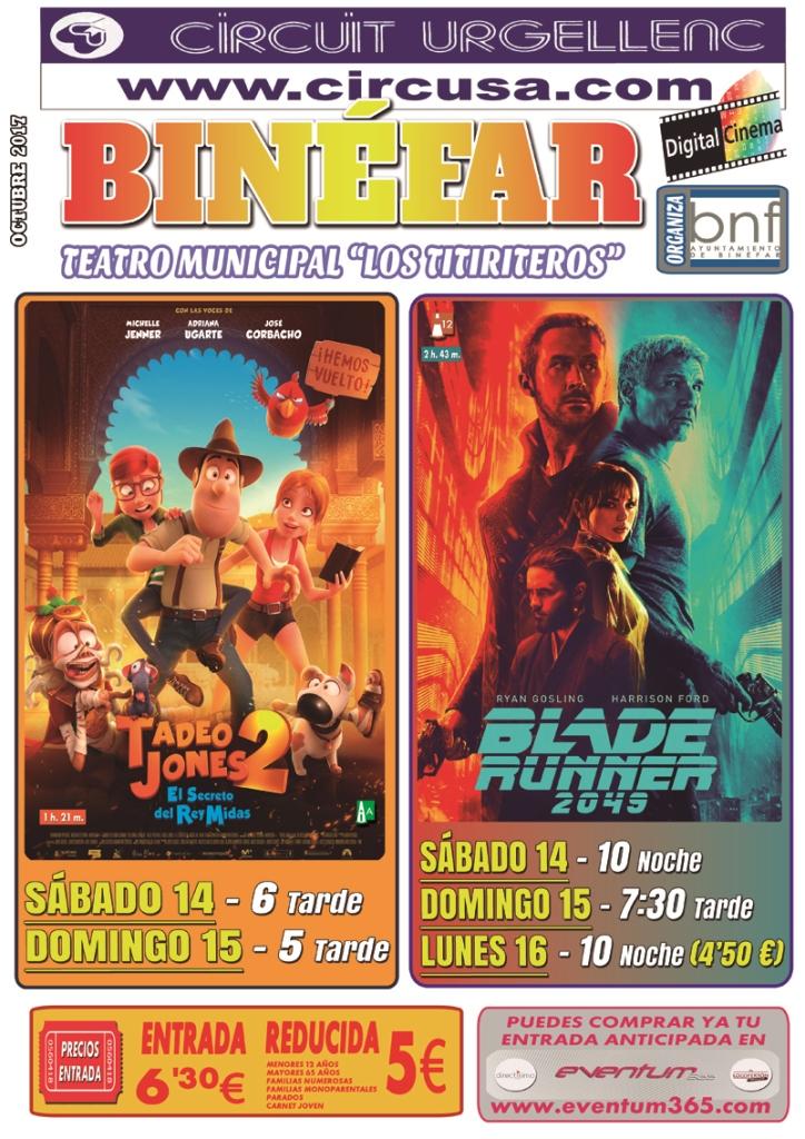 Comienza la nueva temporada de cine con Blade Runner 2049 y Tadeo Jones 2