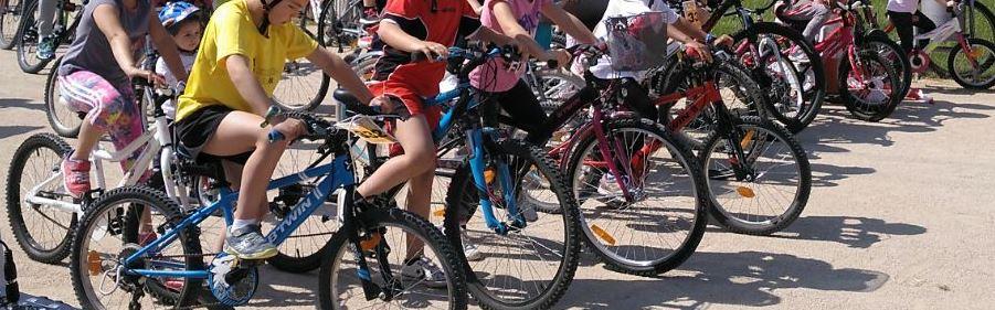 Aula en bici recala de nuevo en los centros educativos de Binéfar