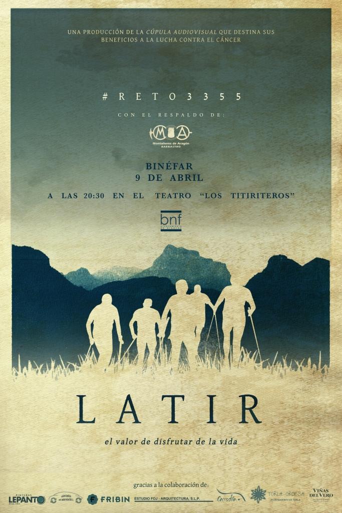 """La película solidaria """"Latir, el valor de disfrutar de la vida"""" abre la programación cultural de abril en Binéfar"""