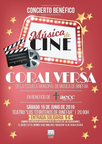 Cartel del concierto Versa en beneficio AECC