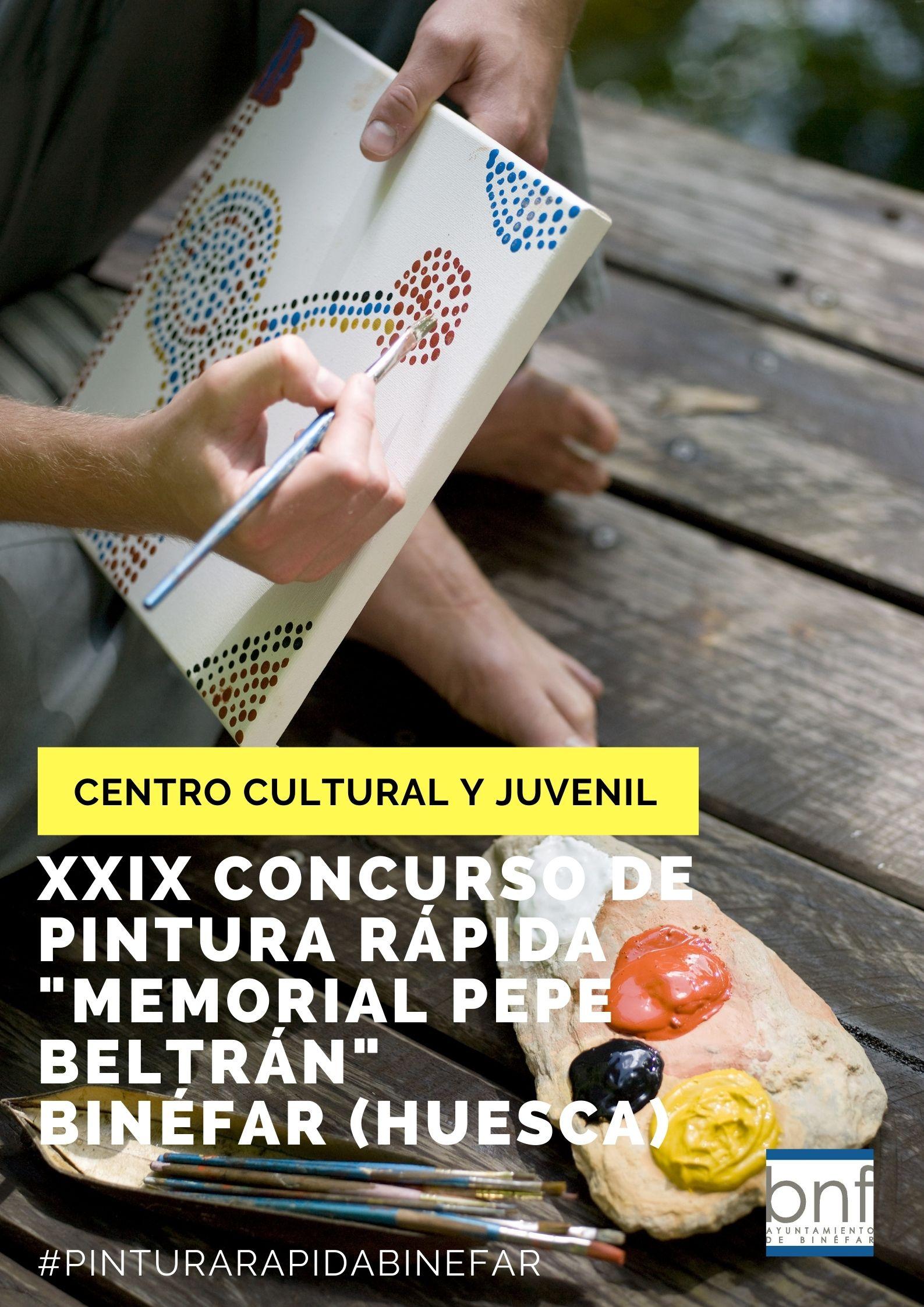 """El Ayuntamiento invita a patrocinadores y pintores a inscribirse en el XXIX Concurso de Pintura Rápida """"Memorial Pepe Beltrán"""""""