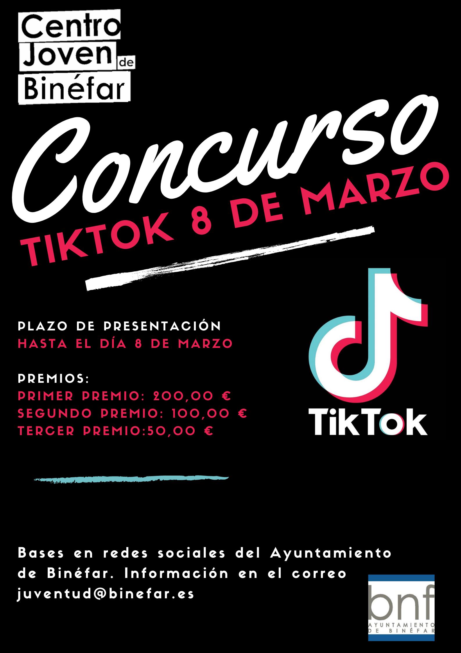 Bases del concurso Tik Tok sobre la mujer trabajadora