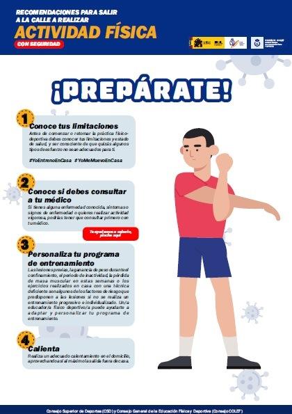 Recomendaciones para reincorporarse a la práctica deportiva