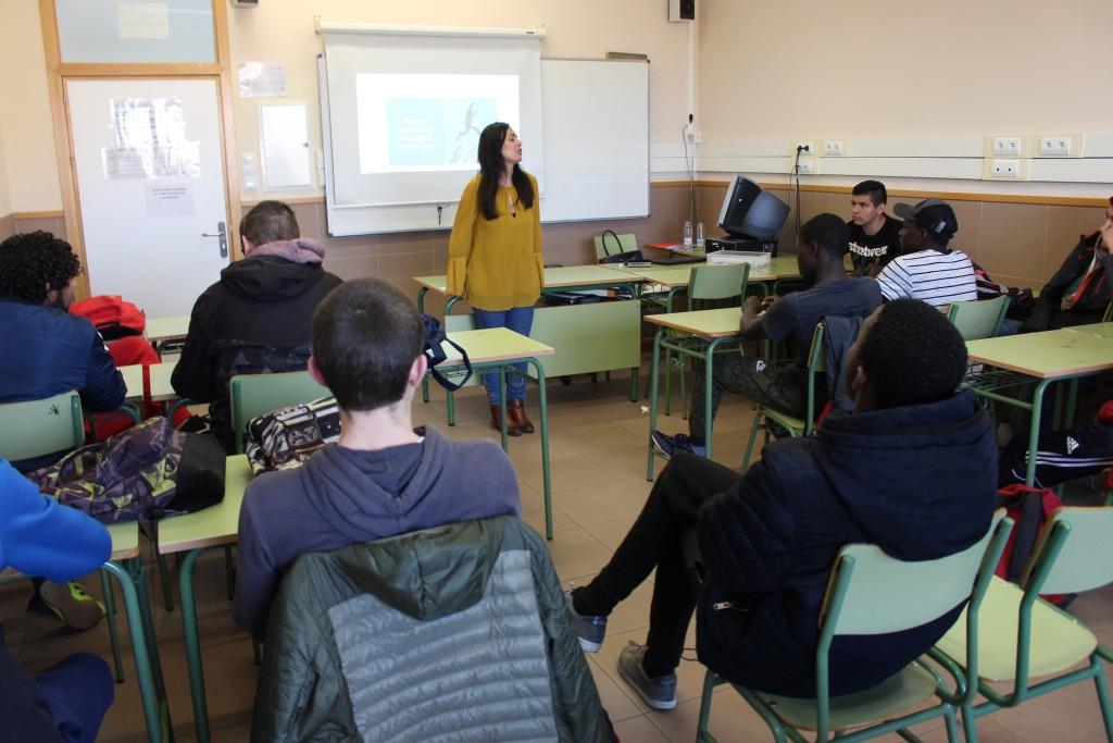 Alumnos de FP de Binéfar han participado en unas charlas para mejorar sus habilidades de empleabilidad