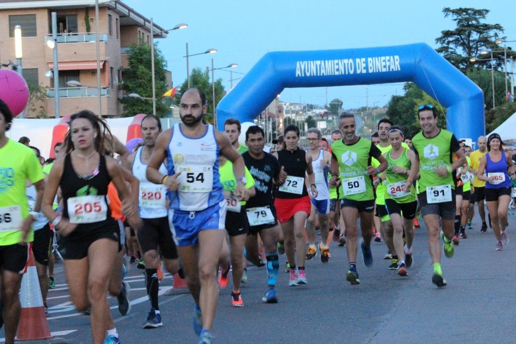 Ciento ochenta y tres atletas tomaron la salida en las carreras 10 y 5 km de Binéfar