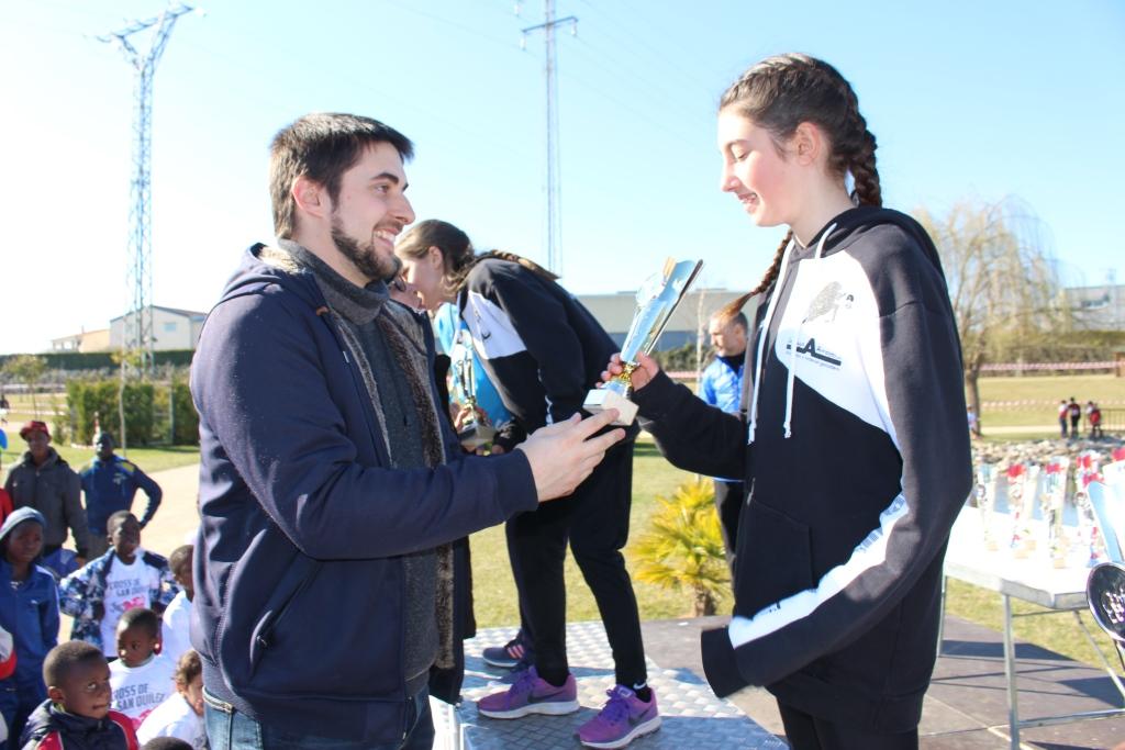 Alberto Susín y María Mallén vencen en la absoluta del XLII Cross de San Quílez celebrado en Binéfar
