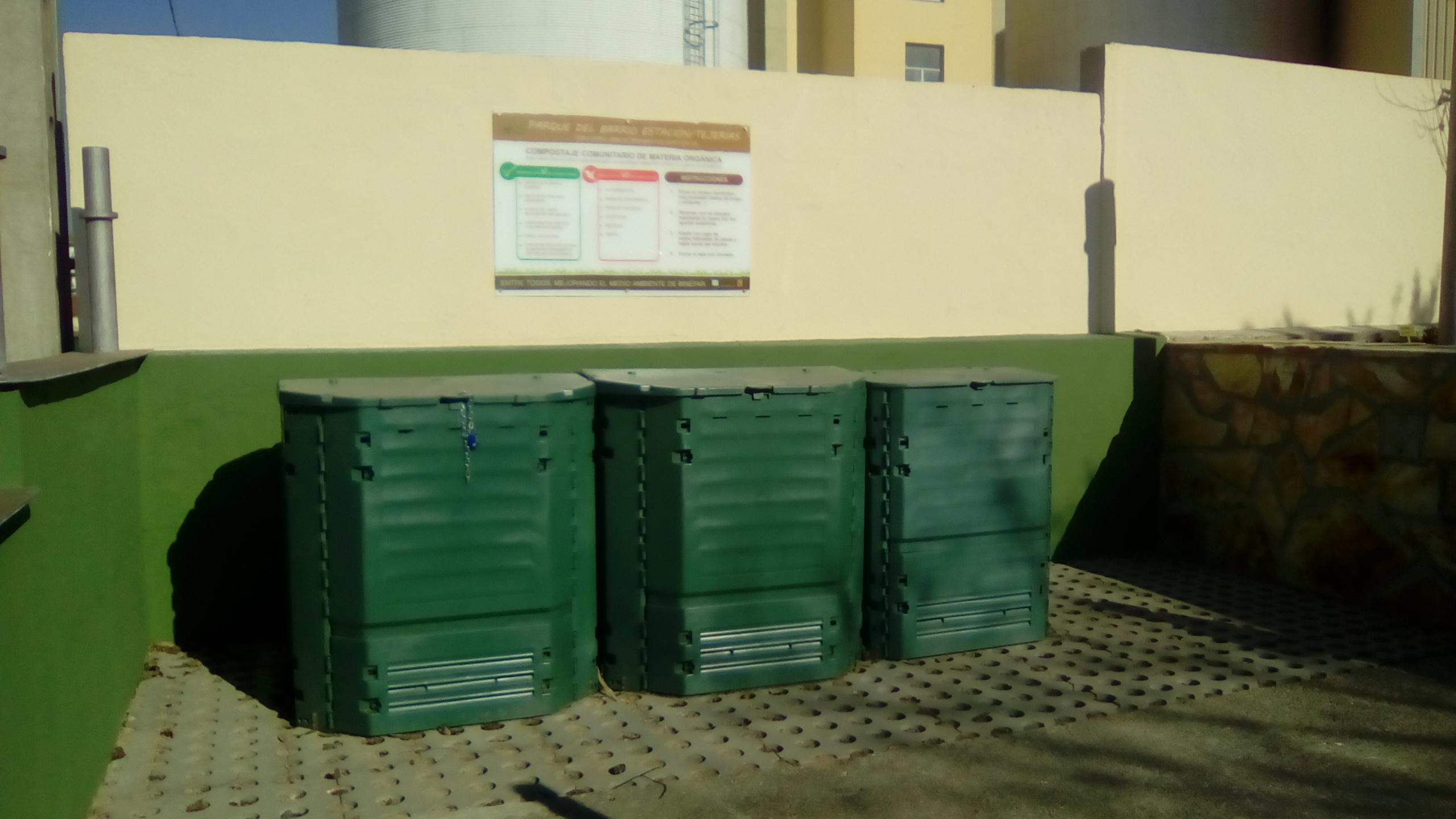 Vista de los compostadores