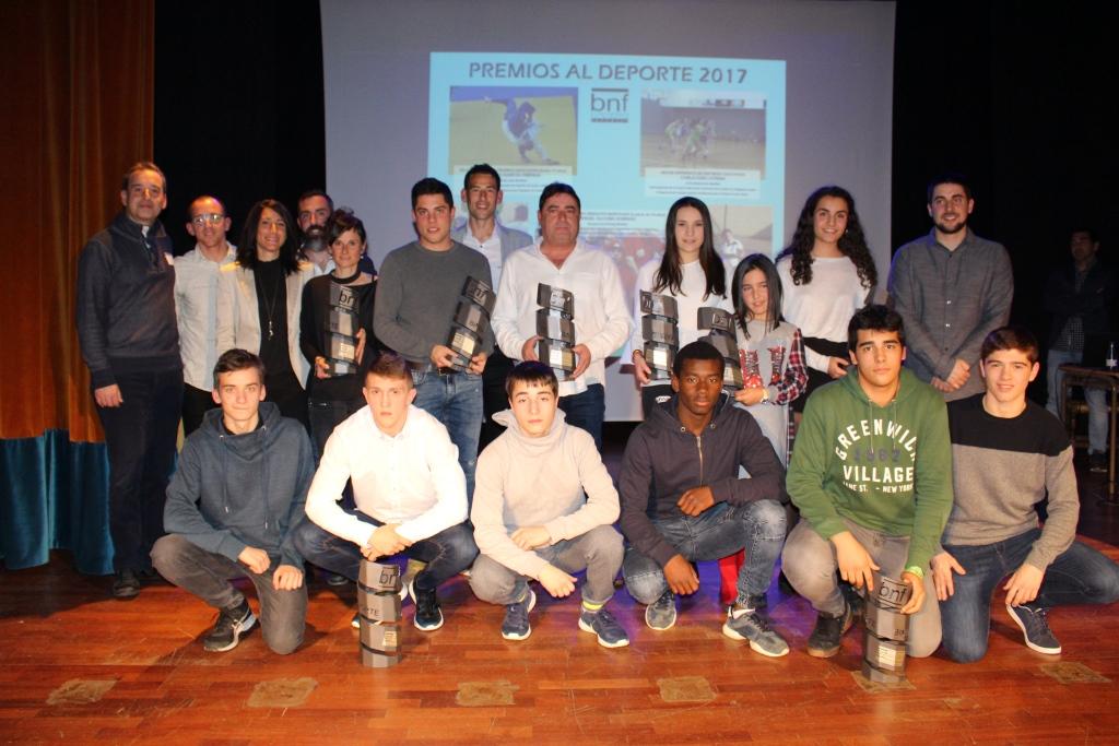 Binéfar homenajeó a sus deportistas más destacados durante 2017 en los Premios al Deporte