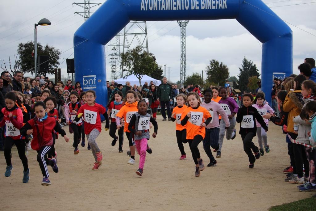 Más de 300 participantes en el XLIV Cross de San Quílez de Binéfar, con Ismael Ennaji y Verónica Escartín como vencedores en categoría absoluta