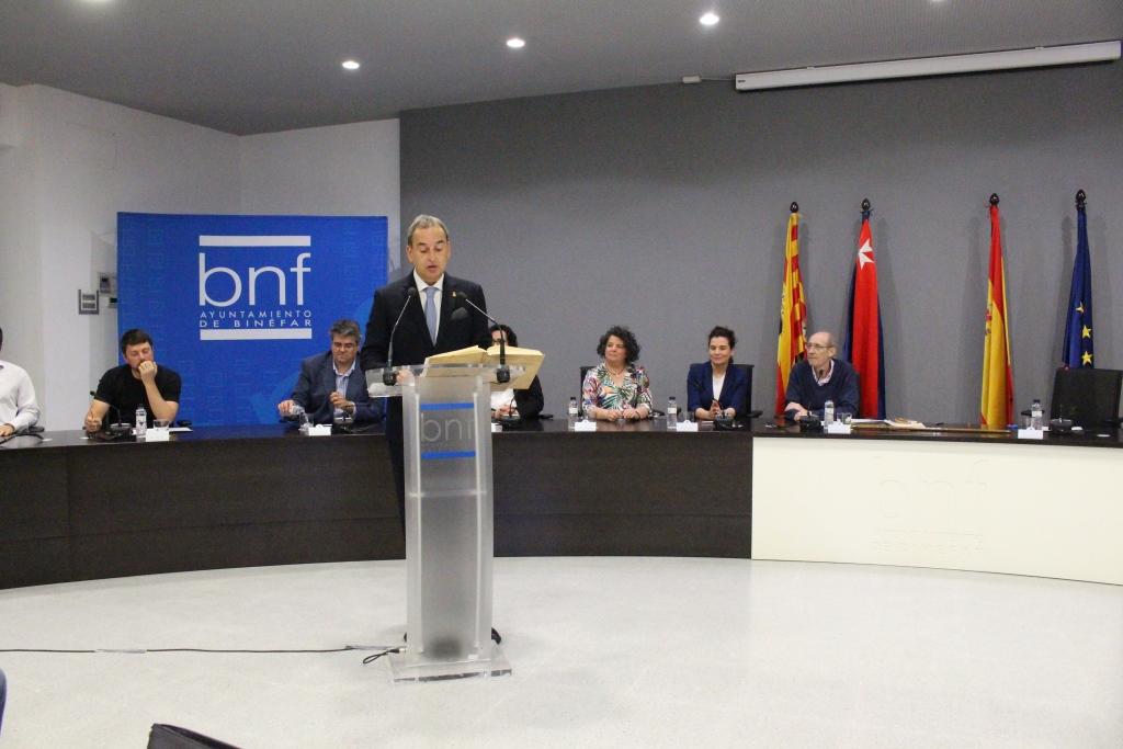 Alfonso Adán en el acto de toma de posesión 2019