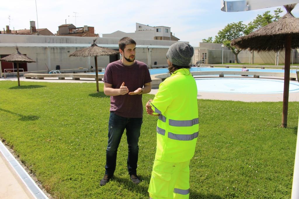 Las piscinas municipales de Binéfar abren con mejoras en las instalaciones