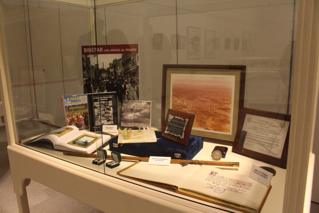 Material exposición Binéfar 100 años de alcaldía
