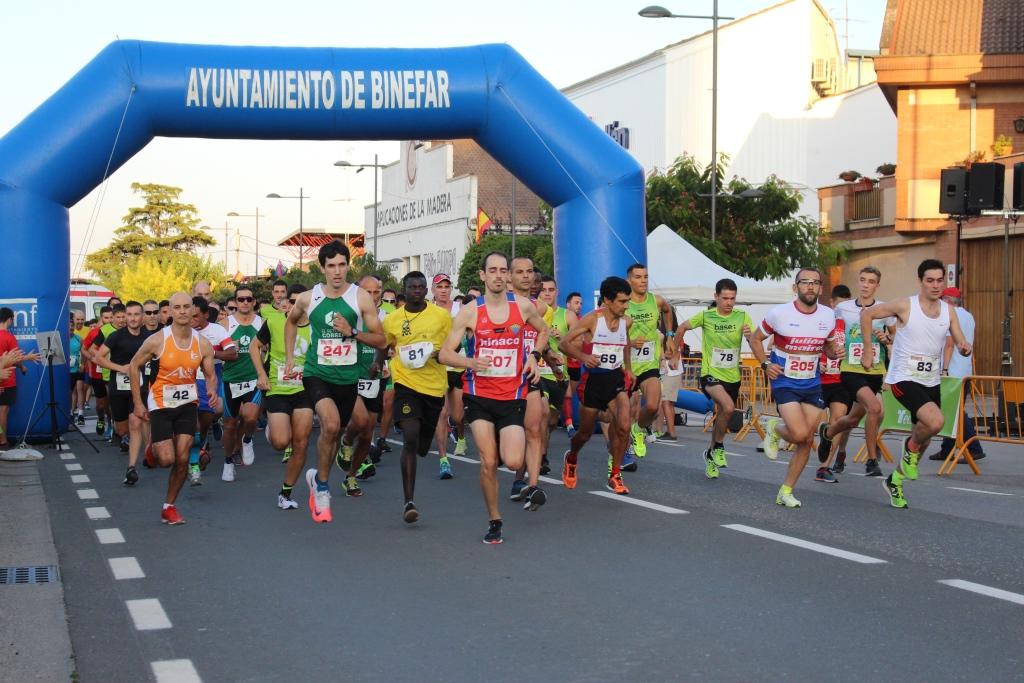 Binéfar traslada a octubre la celebración de las carreras 5 y 10 kilómetros