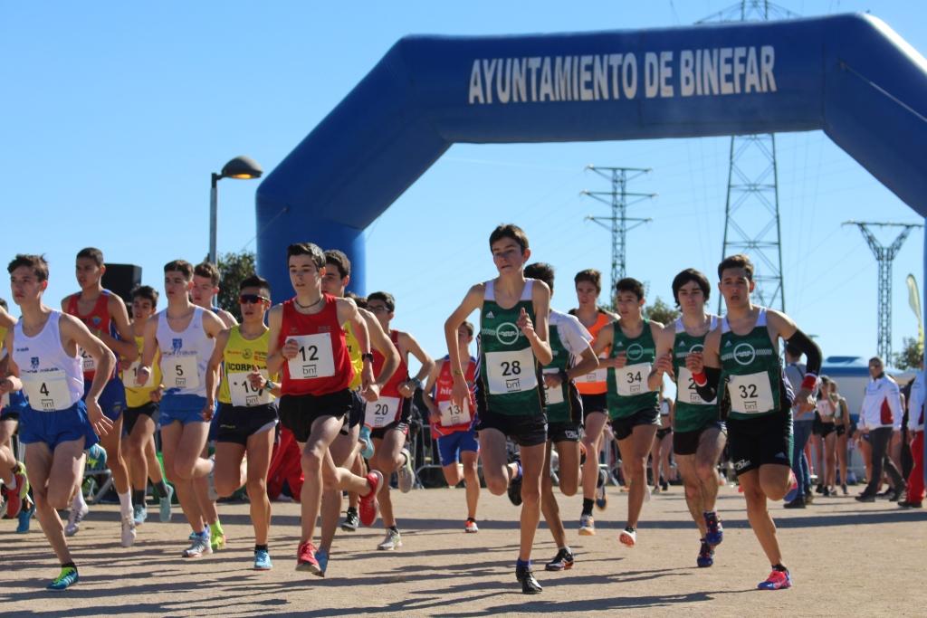 Pol Oriach y Noemí García vencen en categoría sub 18 del Campeonato de Aragón celebrado dentro del XLIII Cross de San Quílez de Binéfar