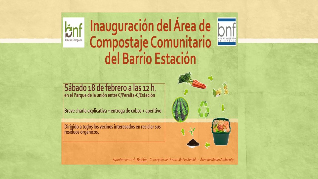 Inauguración compostadores comunitarios del barrio Tejerías