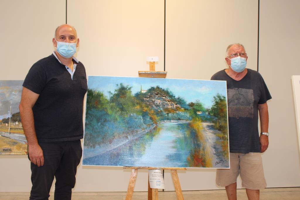 El premio de honor del XXIX Concurso de Pintura Rápida de Binéfar ha sido para el pintor local Javier Campo