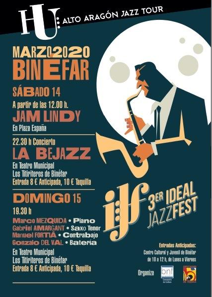 Marco Mezquida, en formación de cuarteto, y La Bejazz encabezan el cartel del III Ideal Jazz Festival de Binéfar