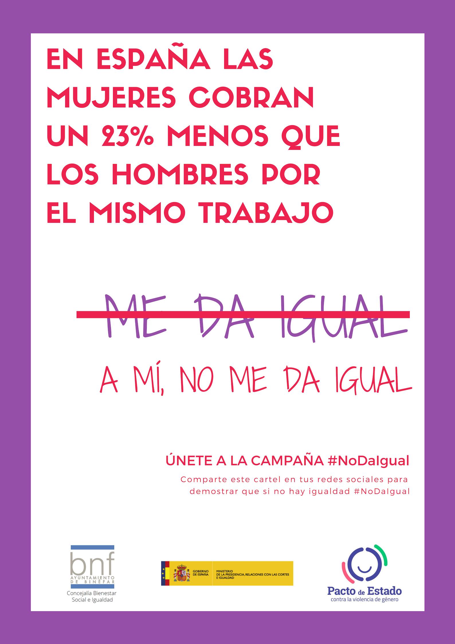 """El Ayuntamiento lanza la campaña """"No da igual"""" para sensibilizar sobre la violencia machista y la desigualdad"""