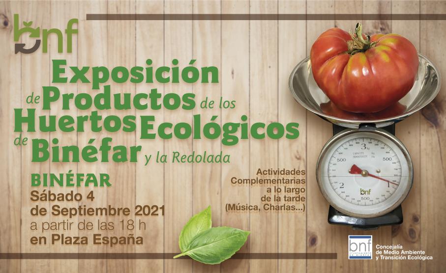 El Ayuntamiento presenta en una exposición los productos de los huertos ecológicos que promociona