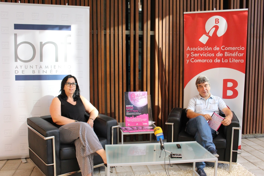 Binéfar celebra la XIII edición de las Rebajas Nocturnas con un combinado de descuentos y arte