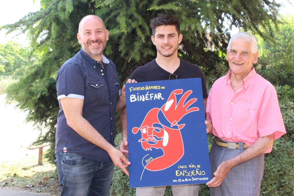 El binefarense Pablo Bailac gana el concurso del cartel anunciador de las fiestas mayores de Binéfar