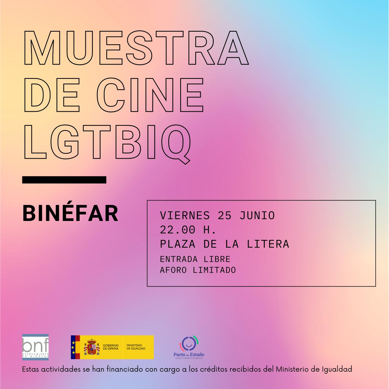 Muestra de cine en Binéfar para celebrar el Día del Orgullo LGTBIQ 2021