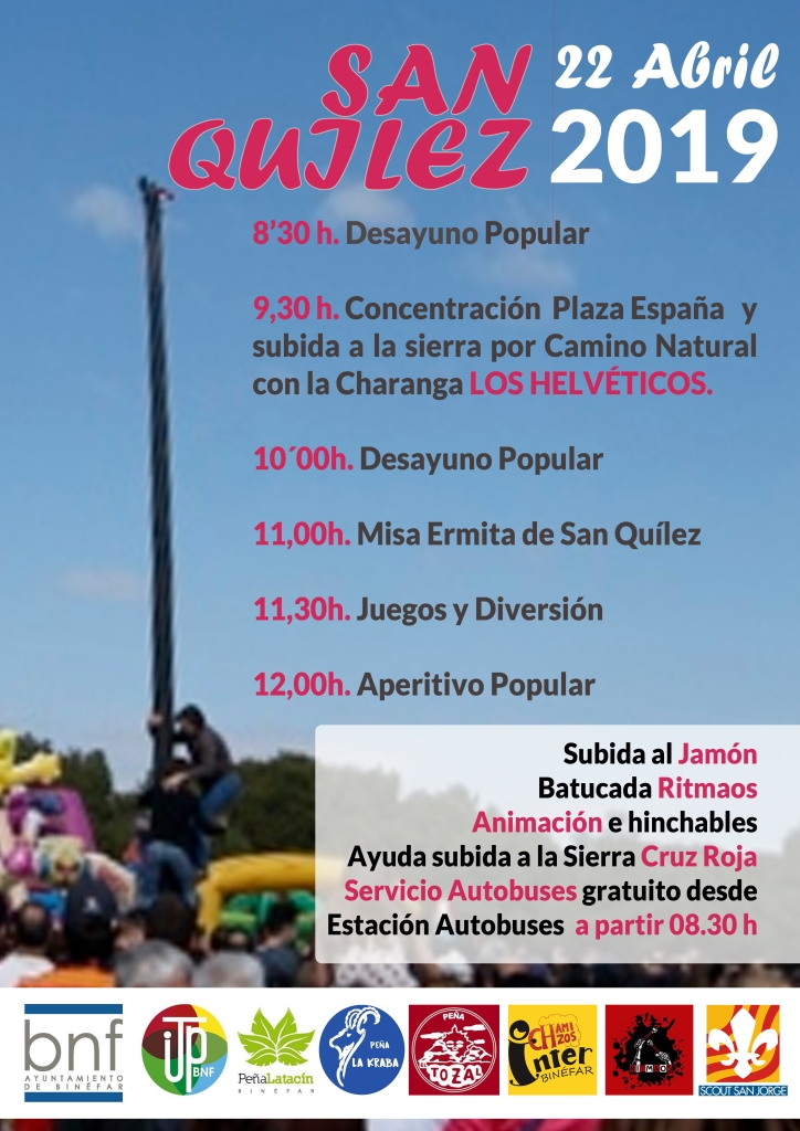 Binéfar celebrará el Lunes de Pascua con la tradicional romería a San Quílez