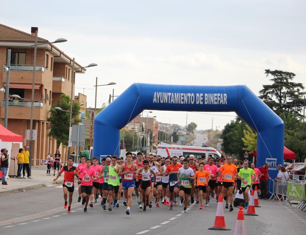 Pol Oriach gana la carrera 5 km de Binéfar con una gran marca, mientras que Pedro Mayoral y Nuria Sierra han sido los vencedores de la carrera 10 km de Binéfar