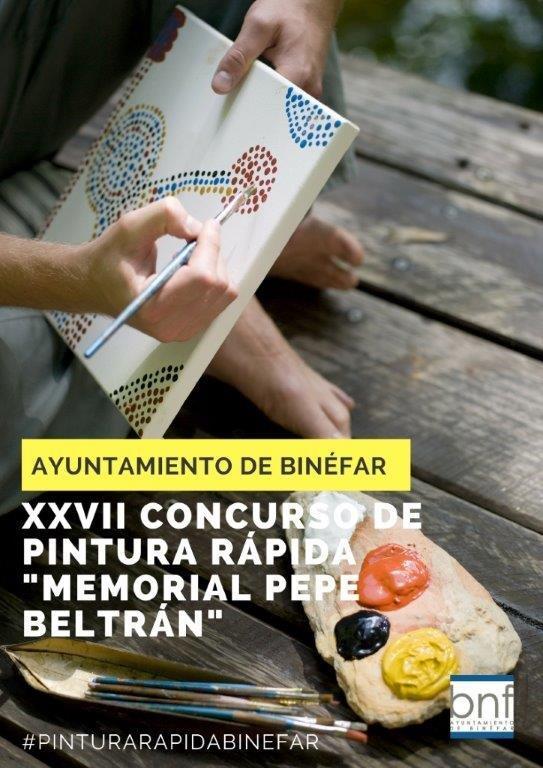 """El Concurso de Pintura Rápida """"Memorial Pepe Beltrán"""" de Binéfar publica sus bases"""