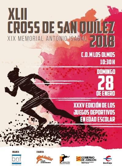 El Cross de San Quílez se celebrará el 28 de enero en el CDM Los Olmos de Binéfar