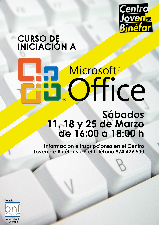 Curso de iniciación a Microsoft Office