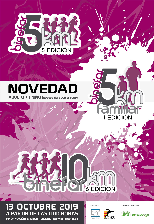 Las carreras 10 y 5 km de Binéfar abren la inscripción para participar en este evento deportivo que se celebrará el 13 de octubre