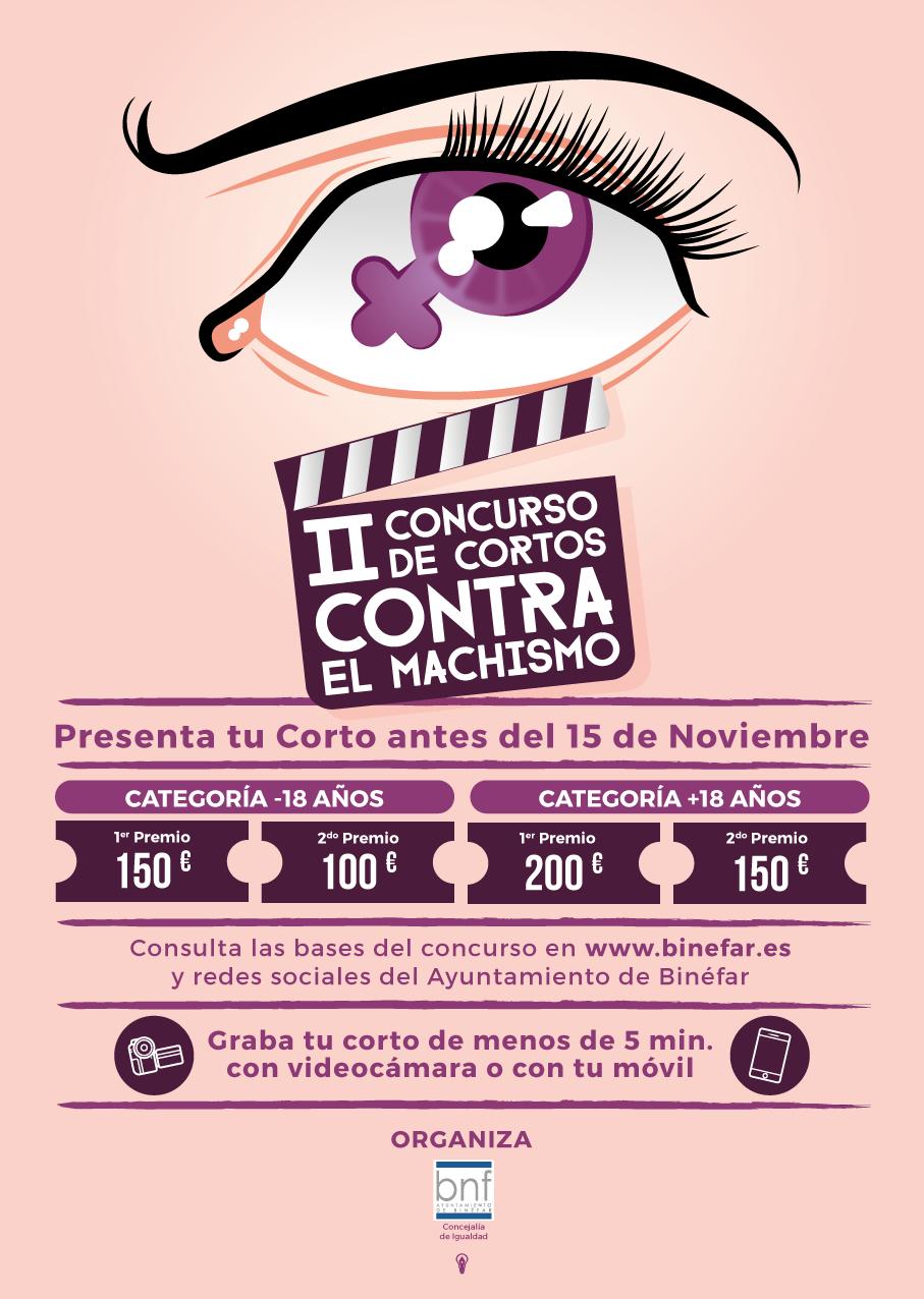 El II Concurso de cortos contra el Machismo del Ayuntamiento de Binéfar se abre a aficionados y profesionales
