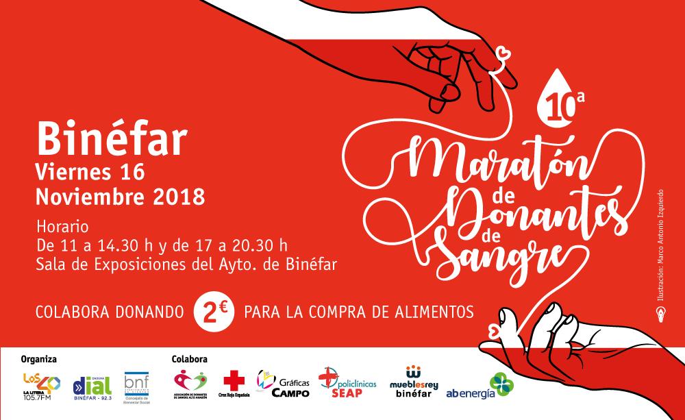Cartel Maratón de Donantes 2018