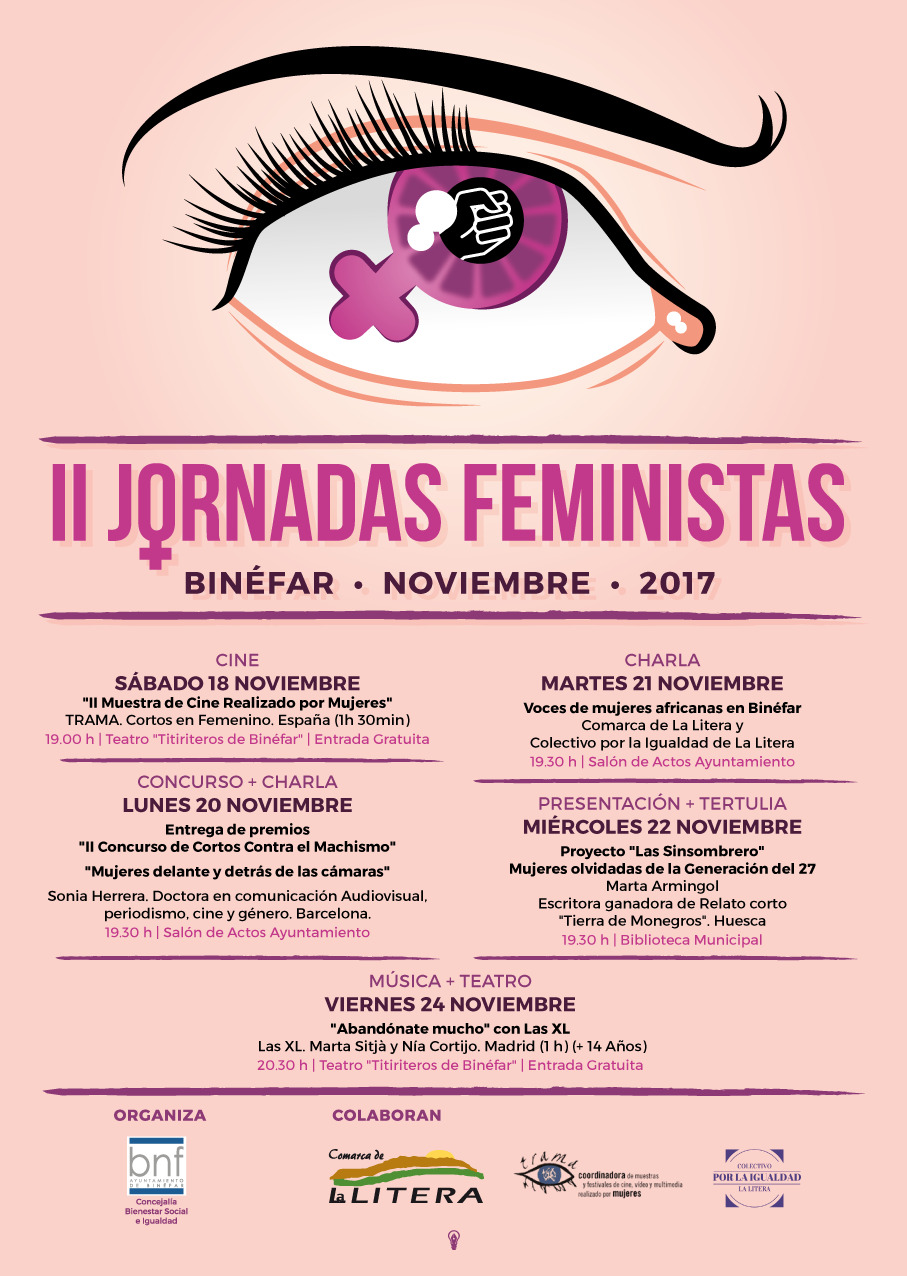 Las II Jornadas Feministas comienzan el sábado 18 con una muestra de cine realizado por mujeres