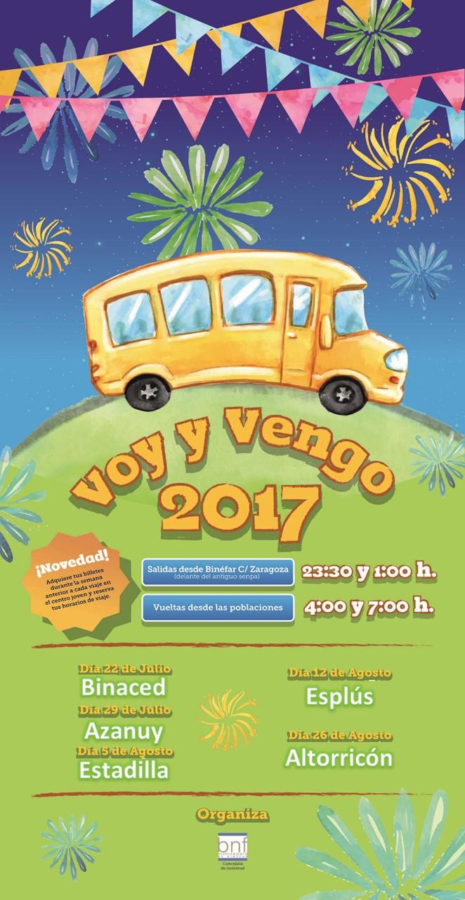 """El autobús """"Voy y Vengo"""" de Binéfar comenzará en Binaced su gira por los pueblos en fiestas"""