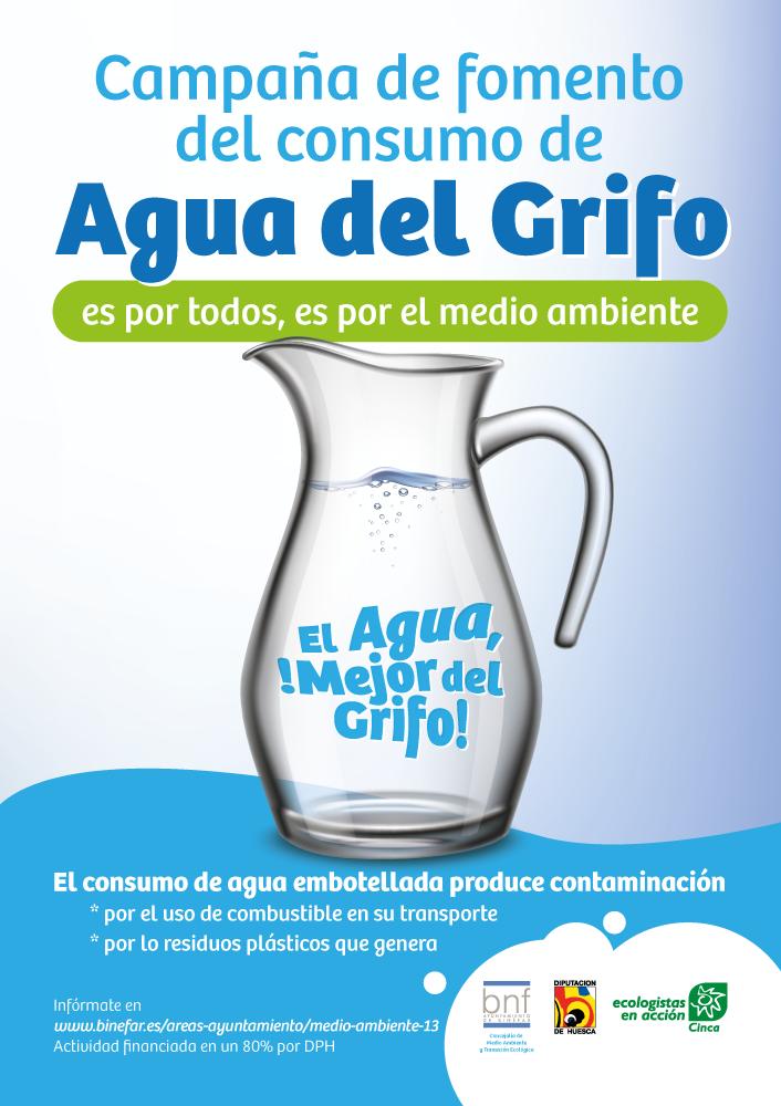 Cartel de la campaña agua del grifo