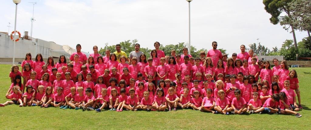 Gran participación en el primer turno del campus deportivo para niños del Ayuntamiento de Binéfar