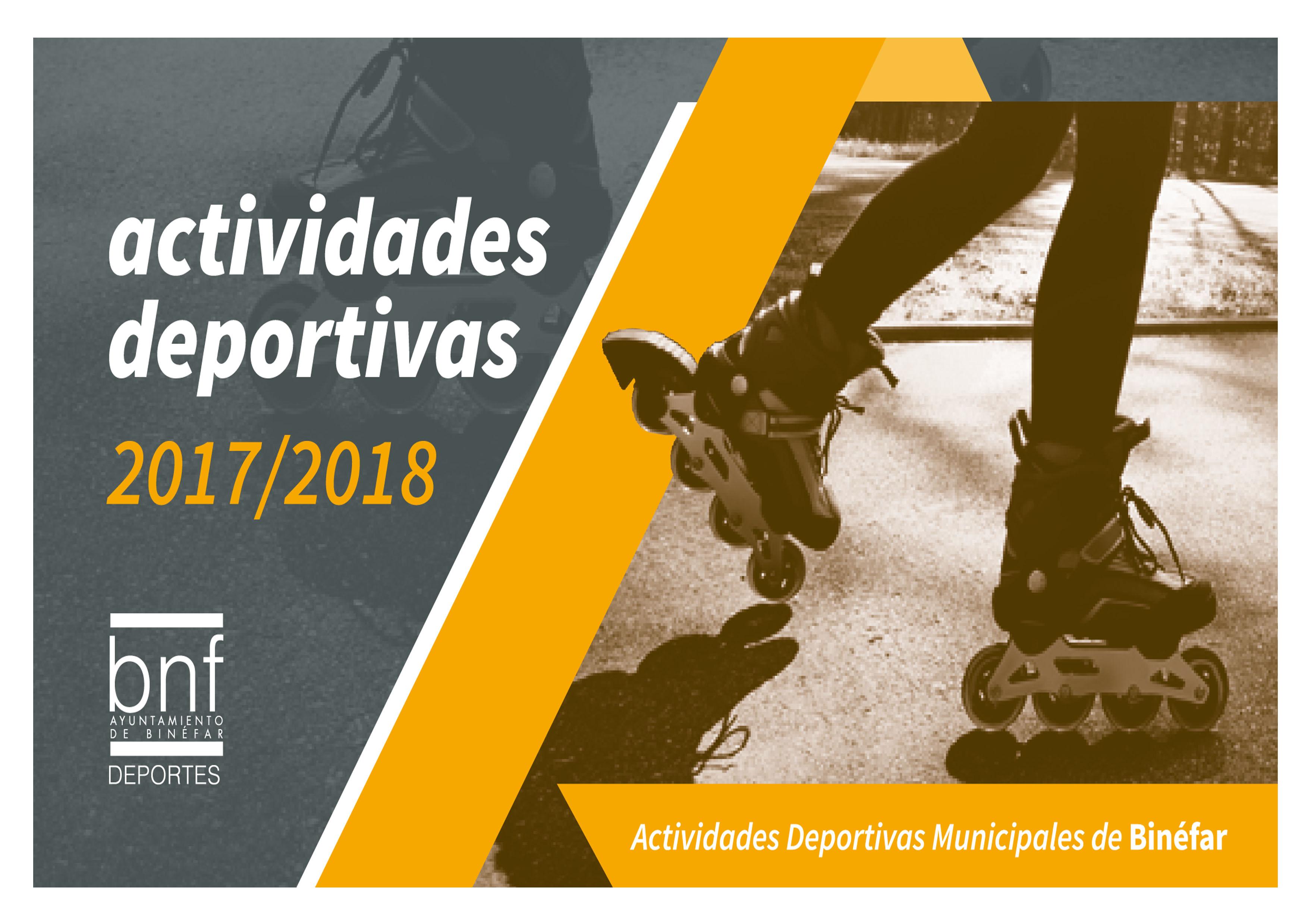 ACTIVIDADES DEPORTIVAS MUNICIPALES  2017-2018