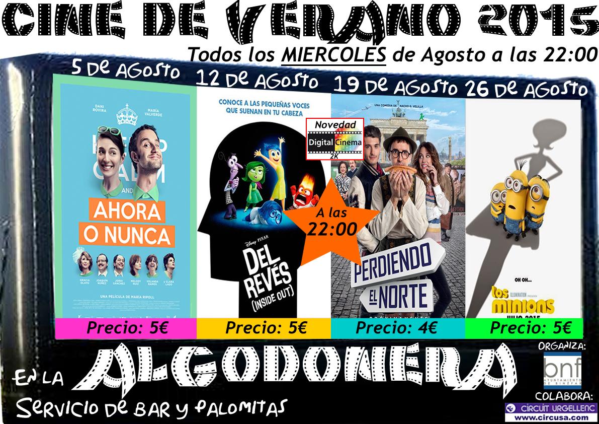 Cine de Verano 2015
