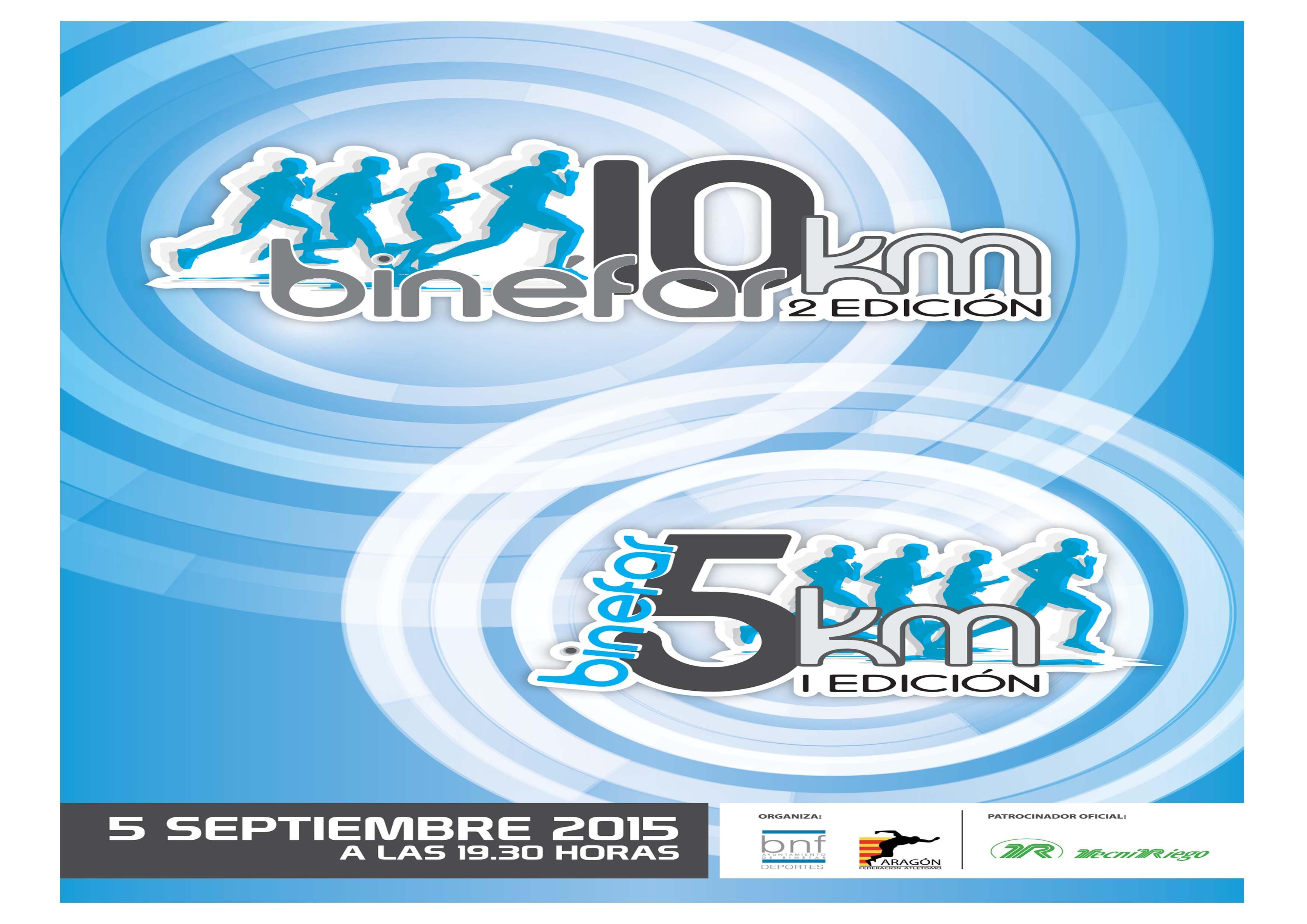 CARRERA 5K Y 10K BINEFAR SEPTIEMBRE 2015