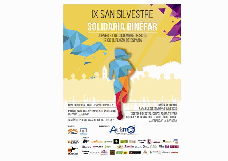 IX EDICIÓN SAN SILVESTRE SOLIDARIA DE BINEFAR 2015
